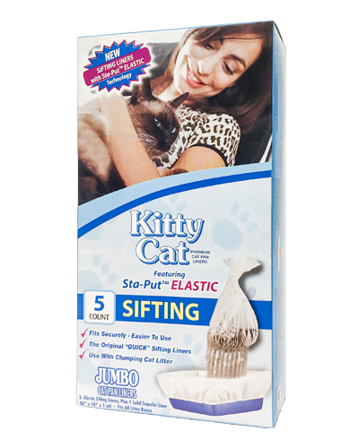 Sifting Elastic Kitty Cat Pan Liners